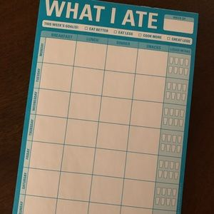 What I Ate food tracker pad